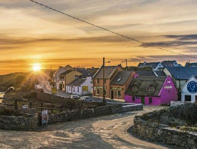 Flisher Street Doolin sunset view