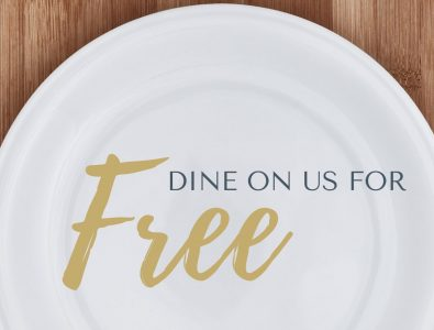 dine on us for free